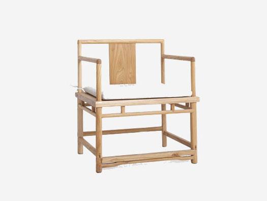 中式茶室榆木家具扶手椅