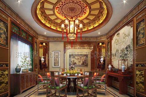 会所中式装修设计,古典魅力的艺术享受