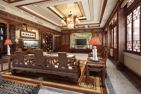 北京冯总古典四合院设计正房VR全景效果图