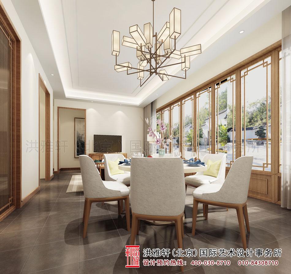 禅意别墅中式装修餐厅