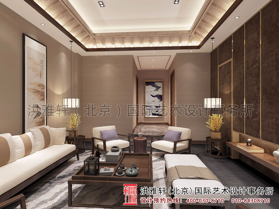 新中式风格会之休闲茶室