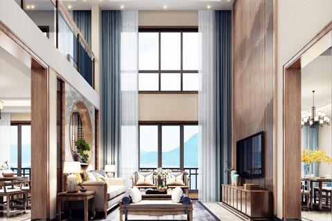 湖北宜昌禅意别墅中式装修,娴静优雅的生活感受
