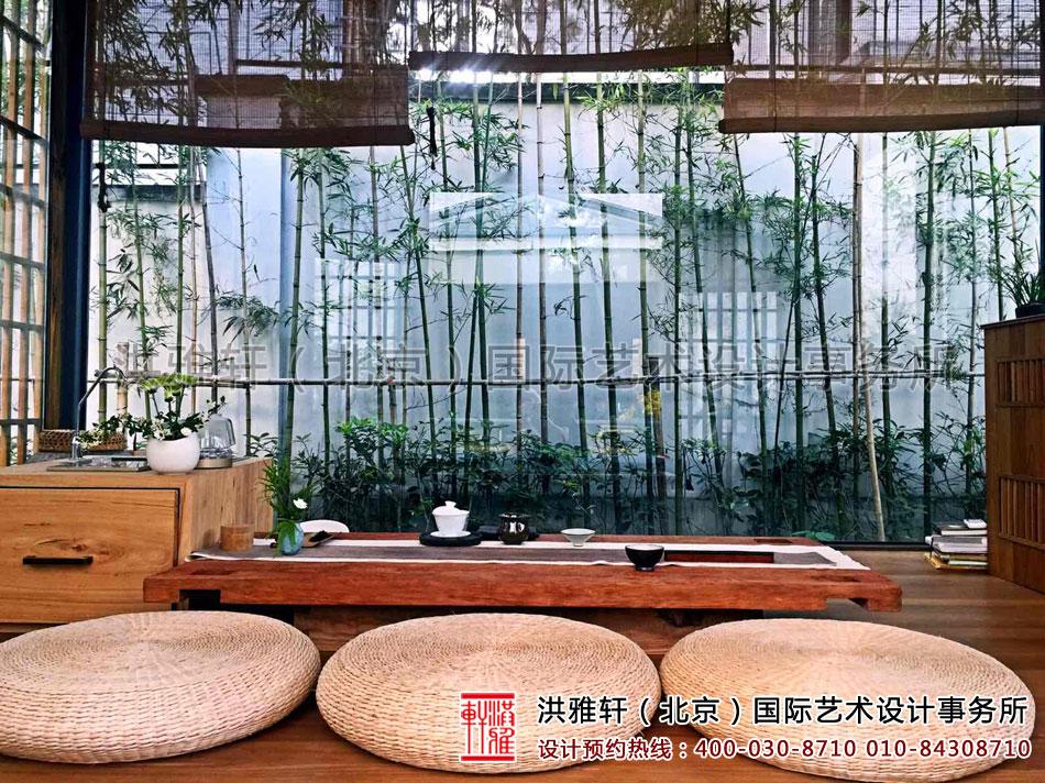 民宿客栈装修设计之房内泡茶区