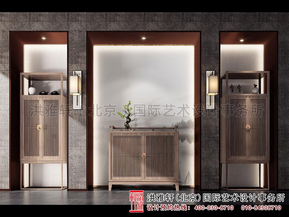 五台山禅意别墅中式装修之走廊