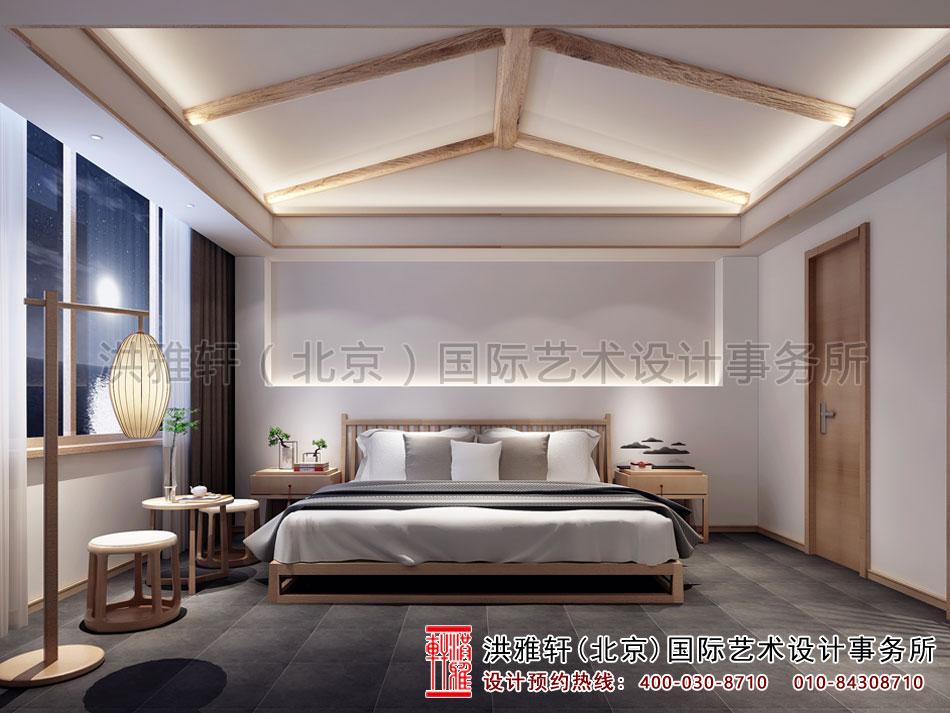 禅意别墅中式装修之主卧室