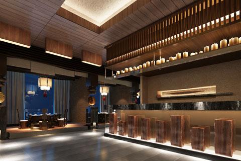 北京怀柔茶楼中式装修设计,清秀柔美意境悠远
