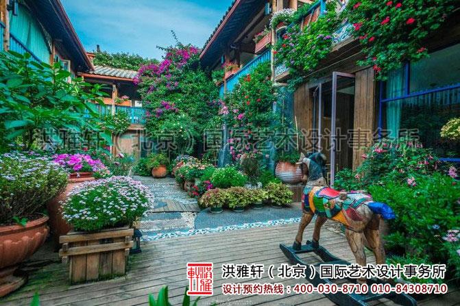 民宿客栈装修之花园式的庭院