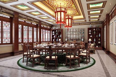 北京冯总古典四合院设计餐厅VR全景效果图