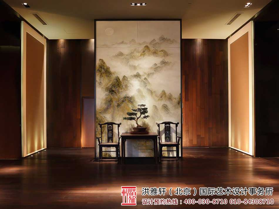 中式家装之玄关中式装修效果图
