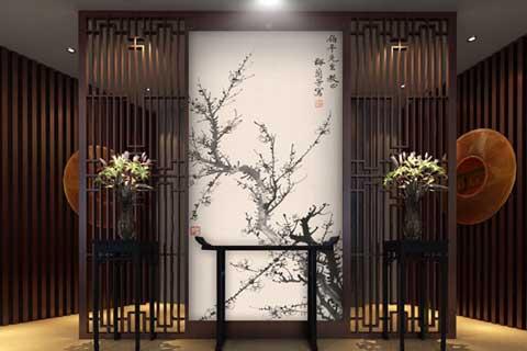 中式家装之玄关中式装修效果图 中式情缘
