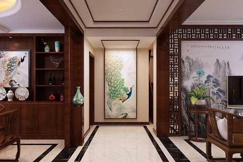 中式进户玄关装修效果图 呈现别样的含蓄之美