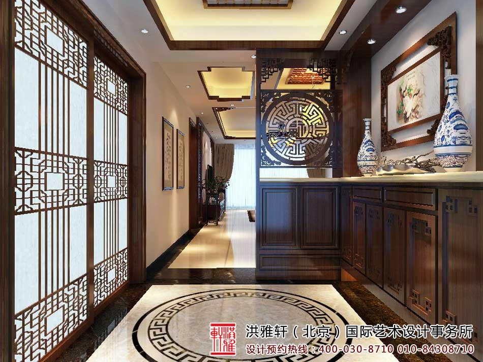 中式进户玄关装修效果图
