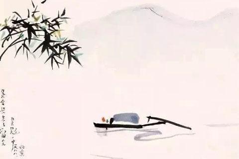 中式文化 孤舟闲飘,静穆入画,诗与画之美于此悄悄相依