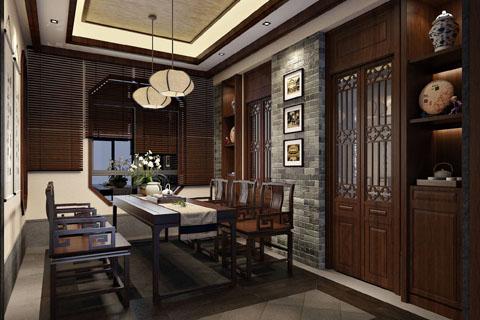 茶楼中式装修效果图,茶楼装修图片,中式茶楼组图