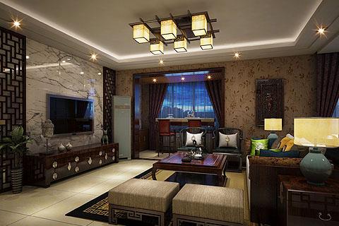 客厅电视背景墙中式装修,中式装修客厅电视背景墙效果图