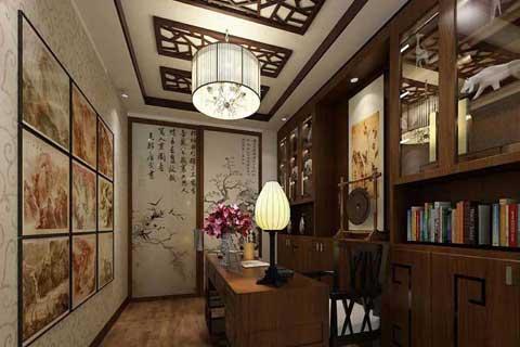 中式书房装修效果图 禅意清新古典风格大集合