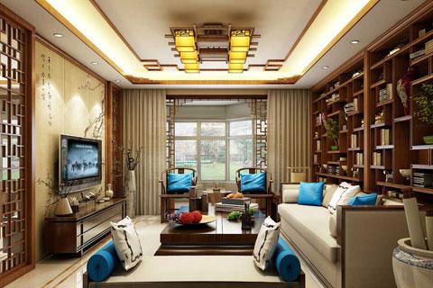 各种中式风格客厅装修效果图集锦欣赏