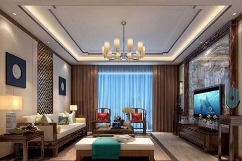 中式客厅装修效果图2017精选各种风格欣赏