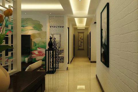 新中式风格过道走廊效果图 无处不显中国风