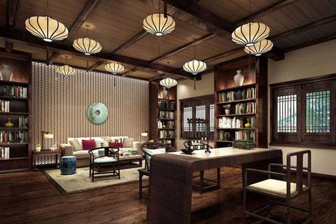 2017年新中式茶室设计效果图精选