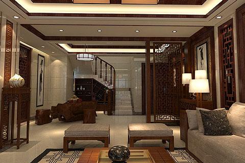 复式楼中式装修图,复式楼装修效果图,复式楼装修图