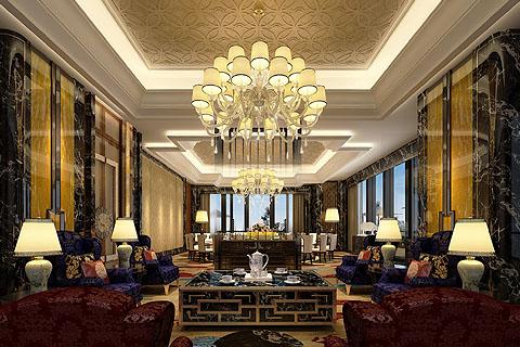 酒店中式装修图,中式酒店装修效果图,酒店装修图片