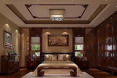 卧室装修图,卧室中式装修图,卧室装修效果图片
