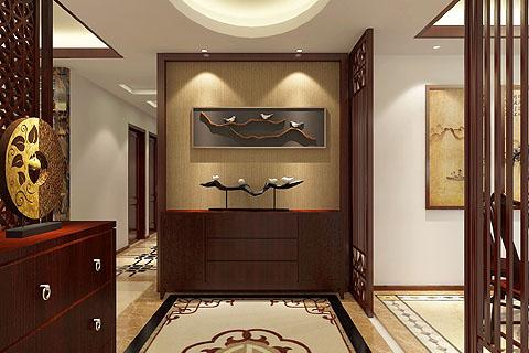 玄关中式装修图,玄关装修效果图,中式玄关装修图片
