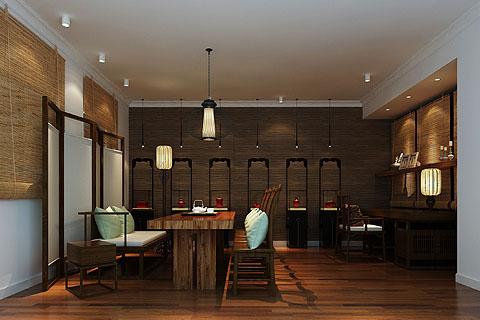 茶室装修图,最新茶室装修图片,茶室中式装修效果图