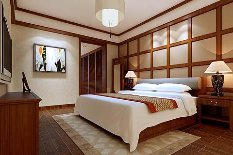 卧室中式装修图片,最新卧室装修图,卧室装修效果图