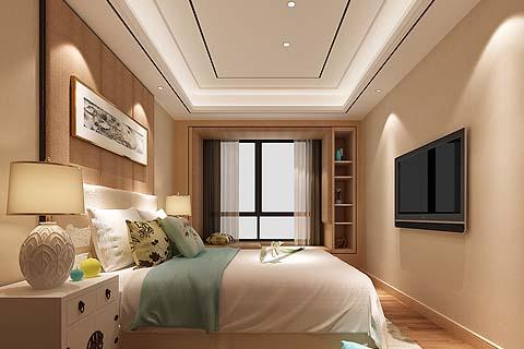 卧室中式装修图片,2017卧室中式装修效果图大全