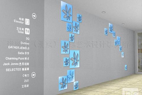 茂业百货商城商城墙面美陈方案 效果图+实景