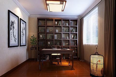 书房中式装修图片,2017书房中式装修效果图(一)