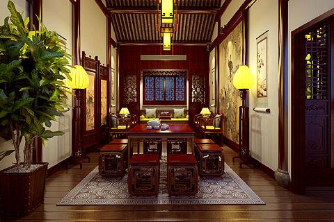茶楼装修图片-茶楼中式装修图-最新茶楼装修效果图