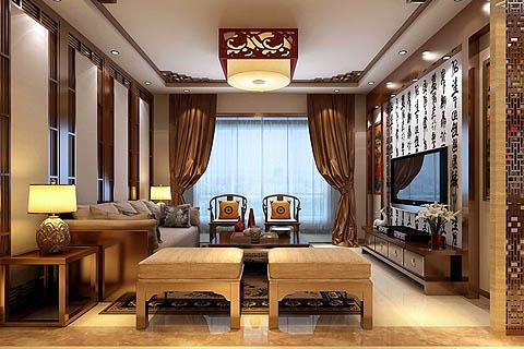 客厅中式装修图-客厅装修图片-最新客厅中式装修图(二)