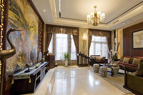 客厅中式装修图-客厅装修图片-最新客厅中式装修效果图(三)
