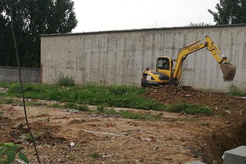 北京大兴四合院自建案例之开工测量现场