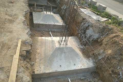 北京大兴四合院自建案例之支模与浇砼施工现场