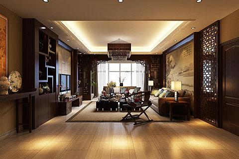 中式客厅装修图,客厅装修效果图,中式装修客厅效果图组