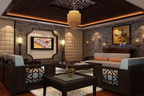 茶室中式装修图片 茶室装修效果图合集赏析