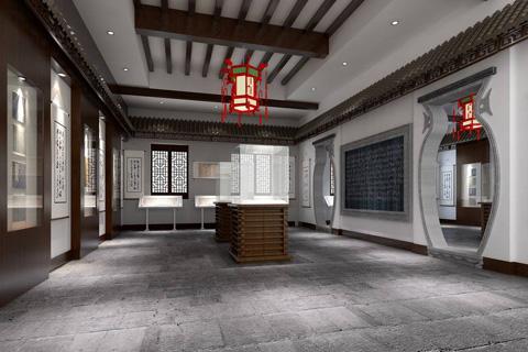 中式风格展厅设计及酒店装修效果图欣赏