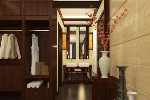 中式家装空间之新中式衣帽间 风情万种