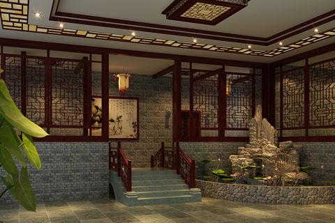 古典茶楼中式装修效果图合集,茶楼中式装修图大全