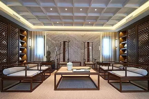【新中式】结合古今中的四合院装修,传递中式文化气息