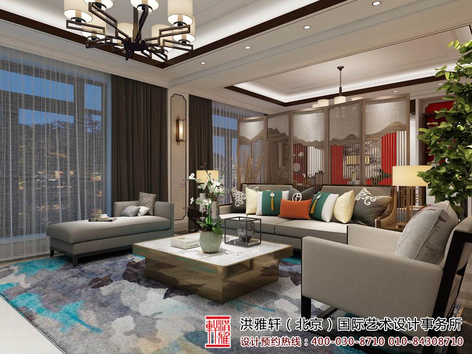 新中式客厅装修图2