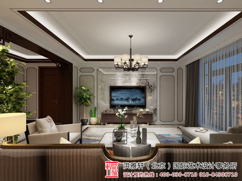 新中式客厅装修图3