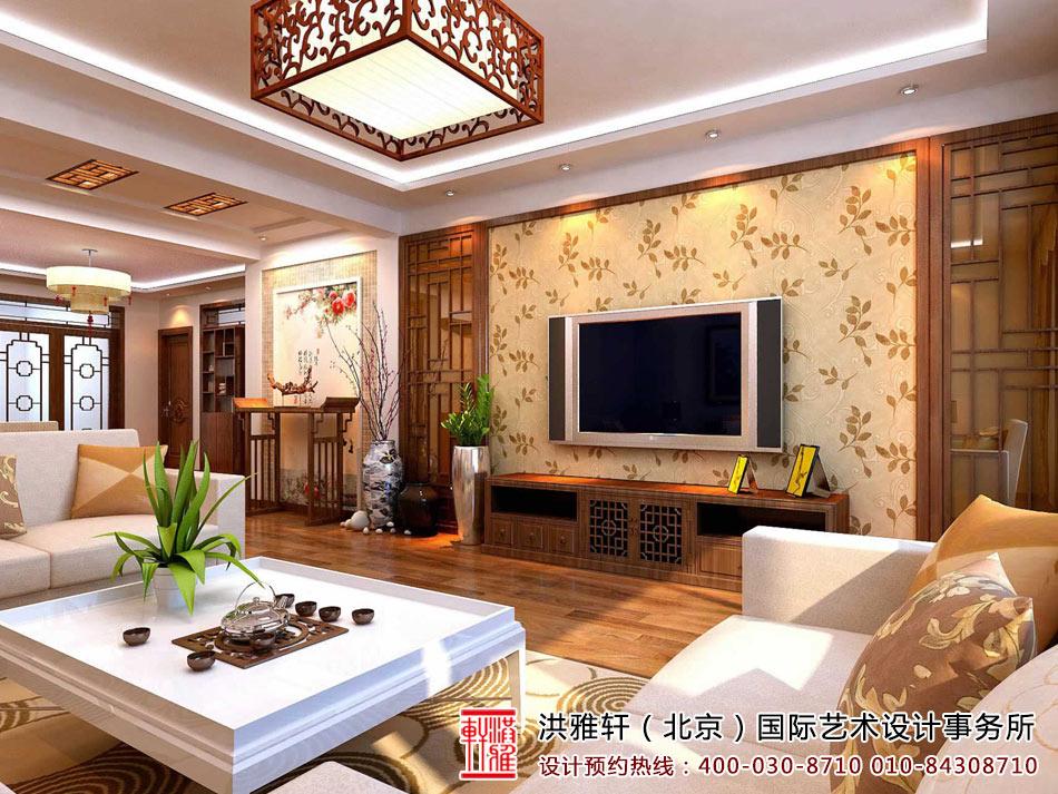 > 新中式客厅装修图,客厅新中式装修效果图(二)