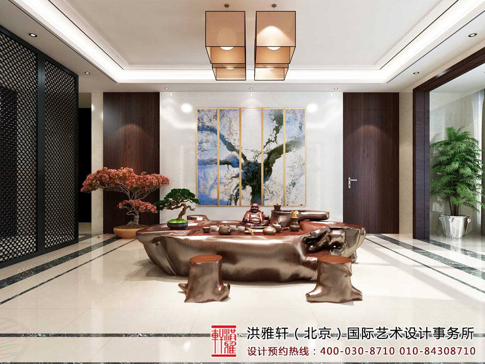 茶室新中式装修效果图