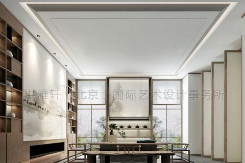 中式装修茶楼设计,茶楼挂画一种中式文化韵镜的繁衍