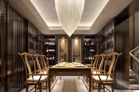 新中式餐厅装修图,餐厅中式装修组图